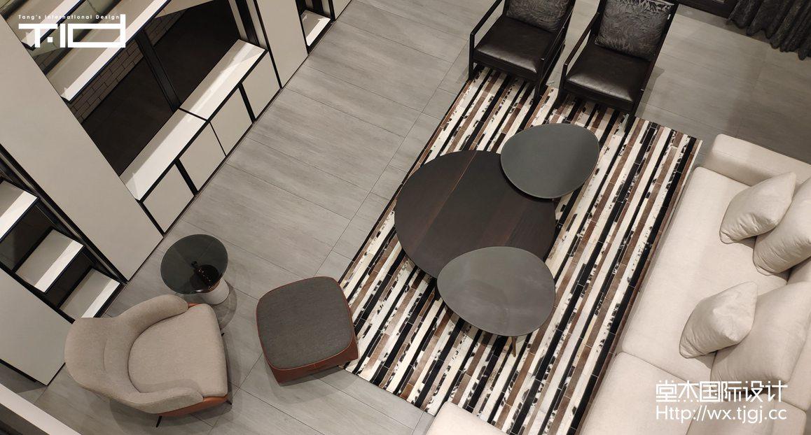 后现代主义-西水东-别墅-610平-装修效果实景图