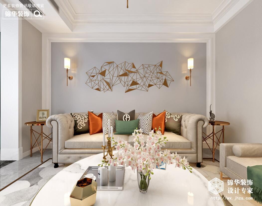 北欧-丹福春城-两室两厅-88平-装修实景效果图