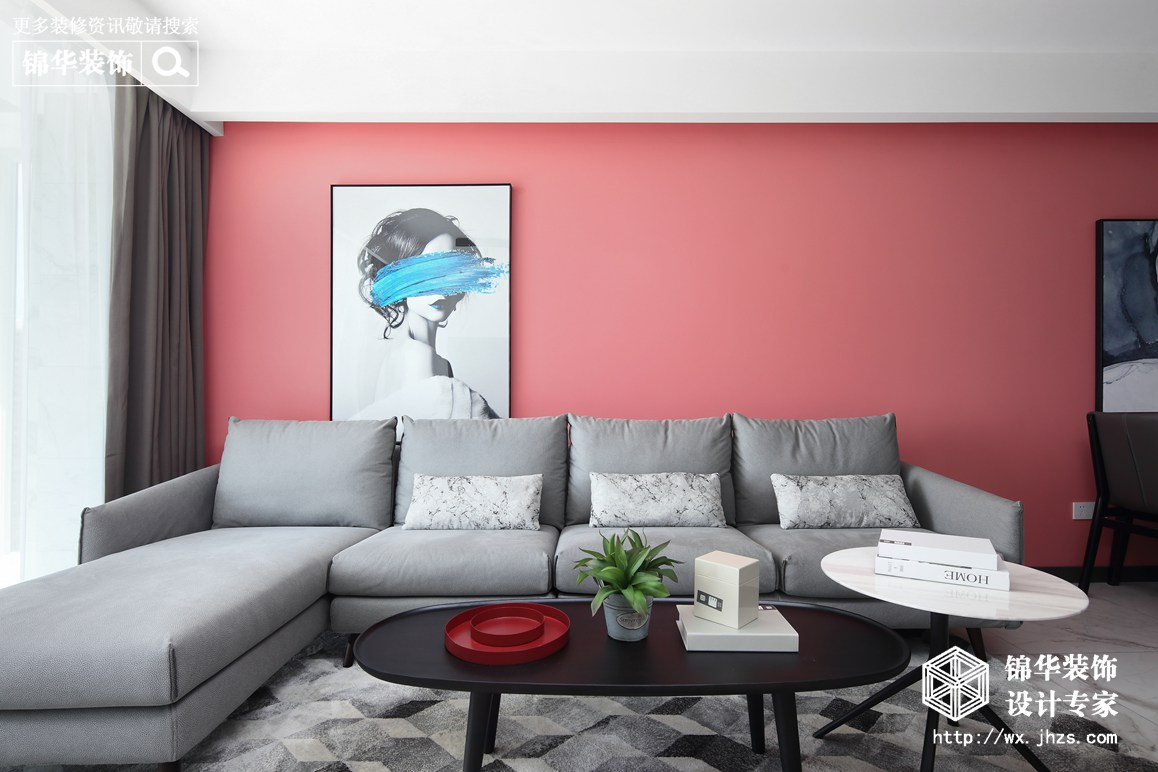 现代简约-繁华里-三室两厅-108-装修实景效果图