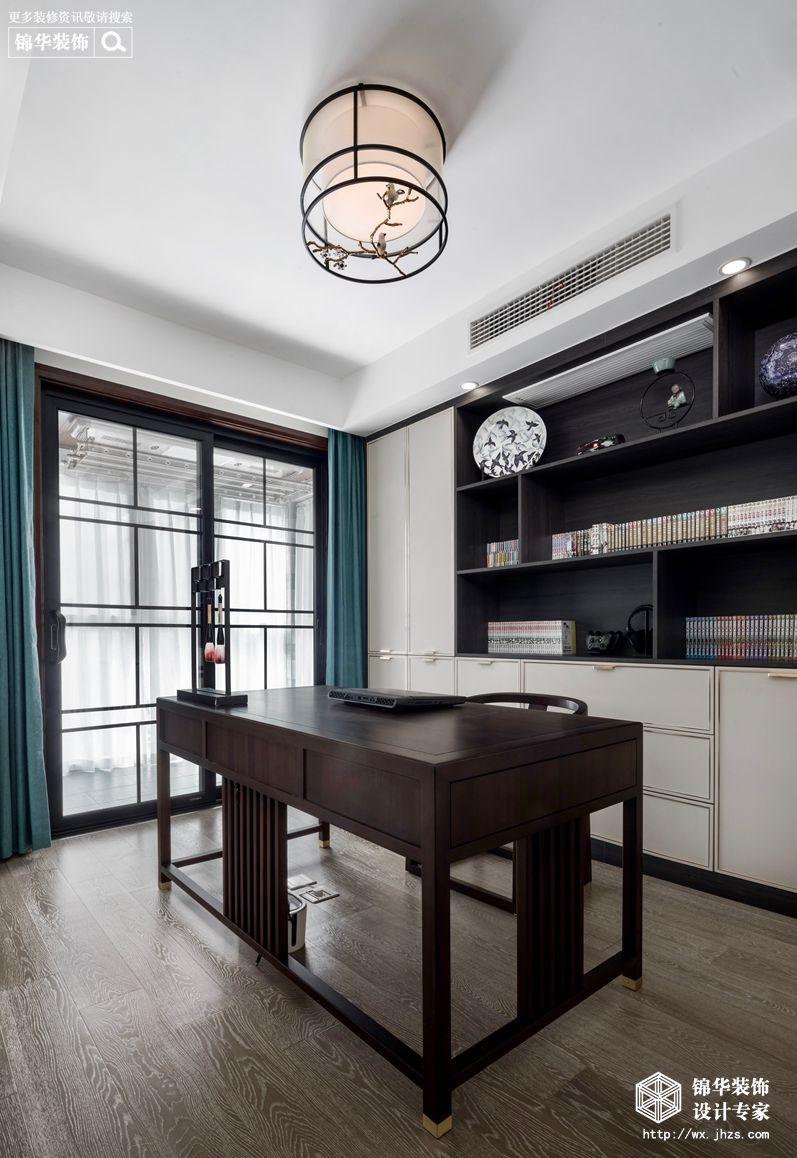 新中式风格-国信世家-三室两厅-140平-书房-装修实景效果图