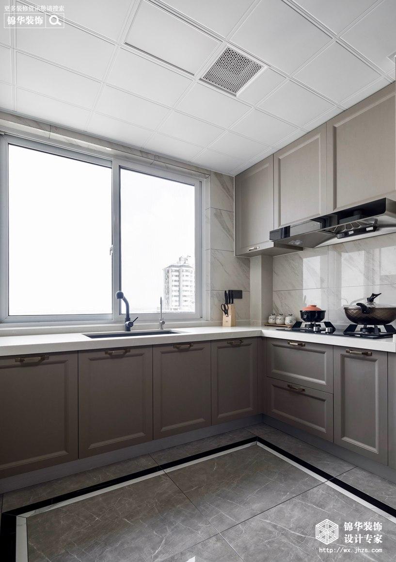 新中式风格-国信世家-三室两厅-140平-厨房-装修实景效果图