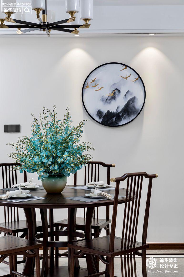 新中式风格-国信世家-三室两厅-140平-餐厅-装修实景效果图