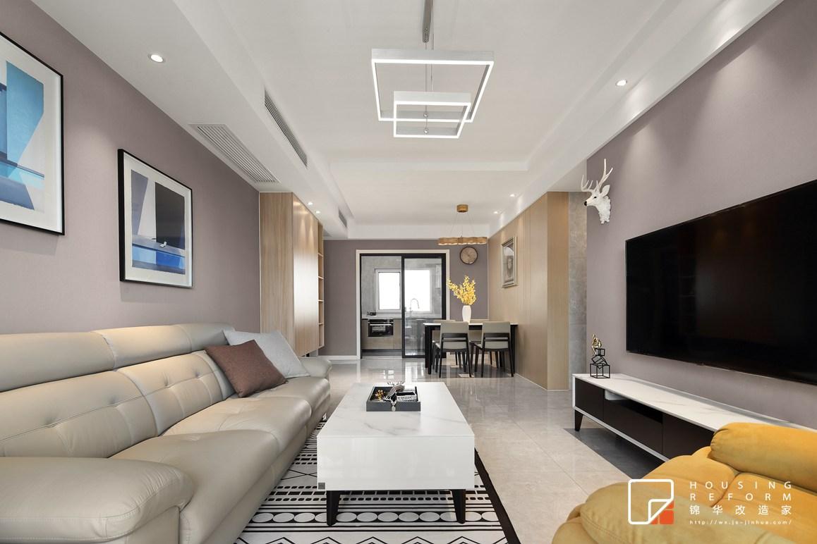 现代简约风格-碧桂园-三室两厅-115平-装修实景效果图