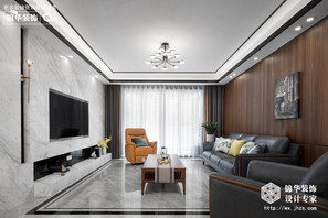 现代简约-美的公园天下-四室两厅-136平-装修实景效果图