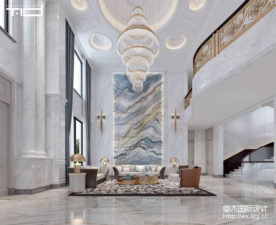 现代风格-香槟湖-别墅-1200平-装修效果图