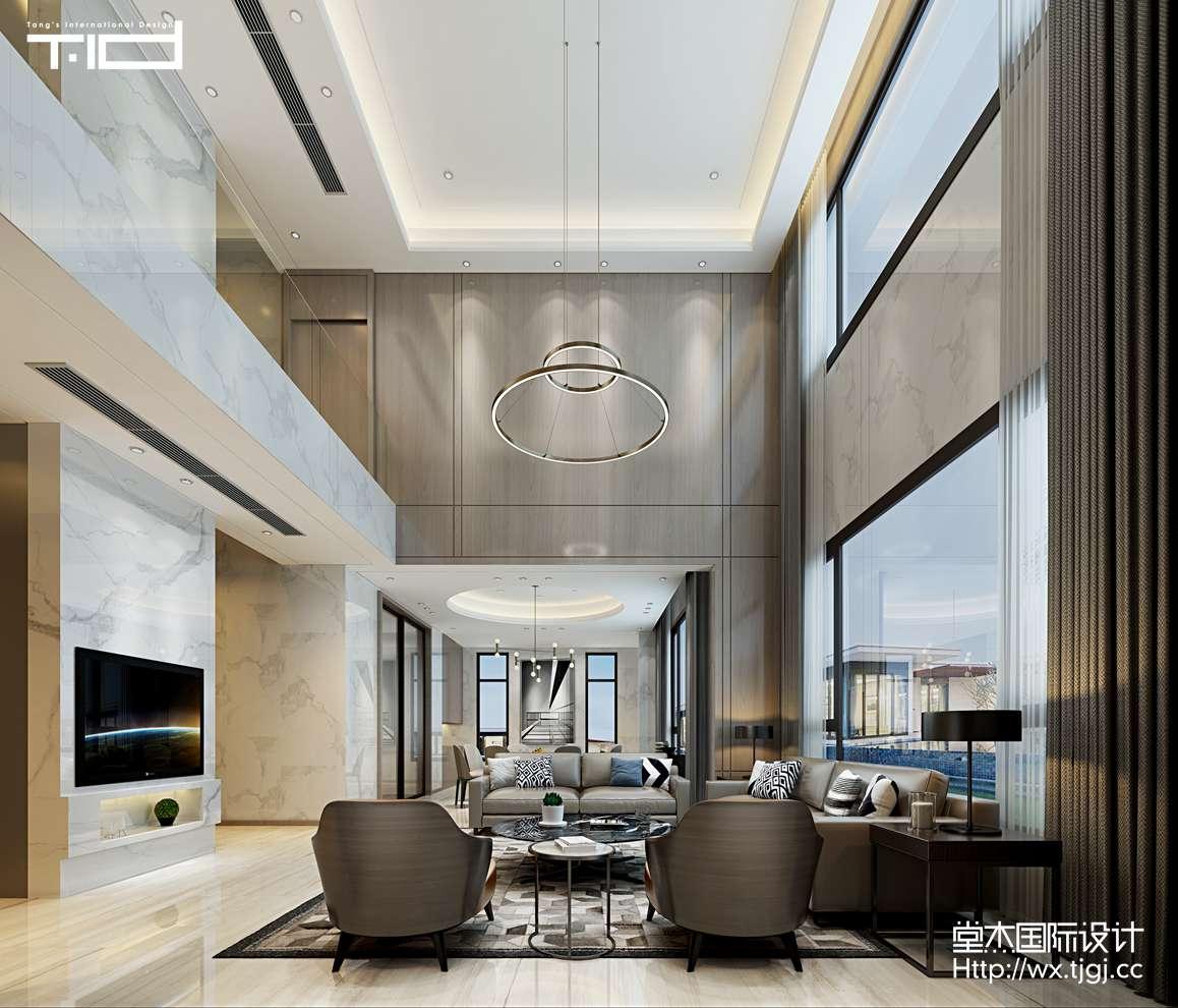 现代风格-万象九里-别墅-623平-装修效果图