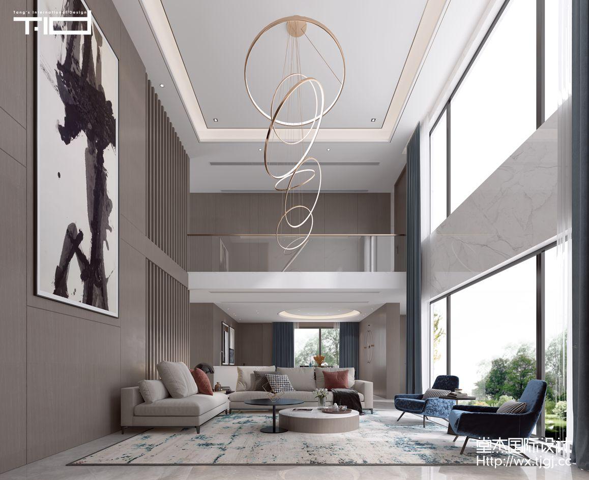 现代风格-富力十号-别墅-650平-装修效果图