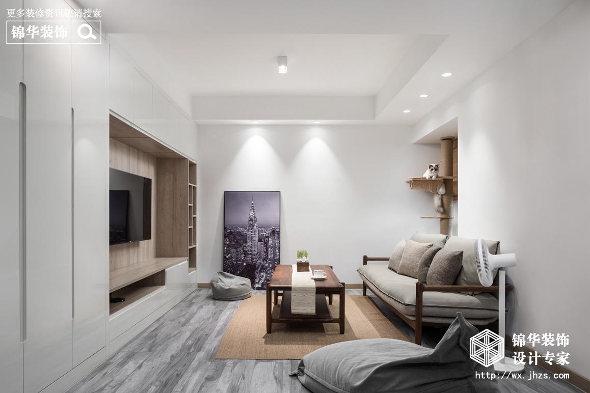 极简风格-尚锦城-两室两厅-105平-装修实景效果图