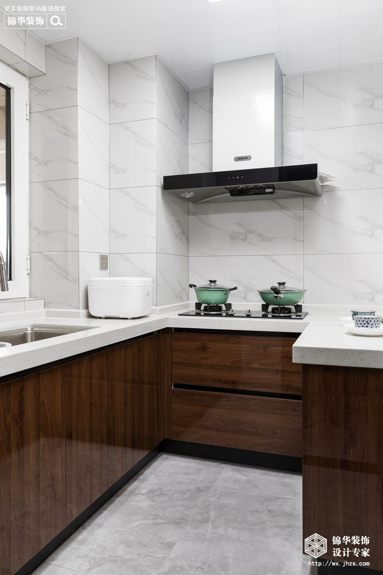 新中式风格-瑷颐湾-两室两厅-89平-厨房-装修实景效果图
