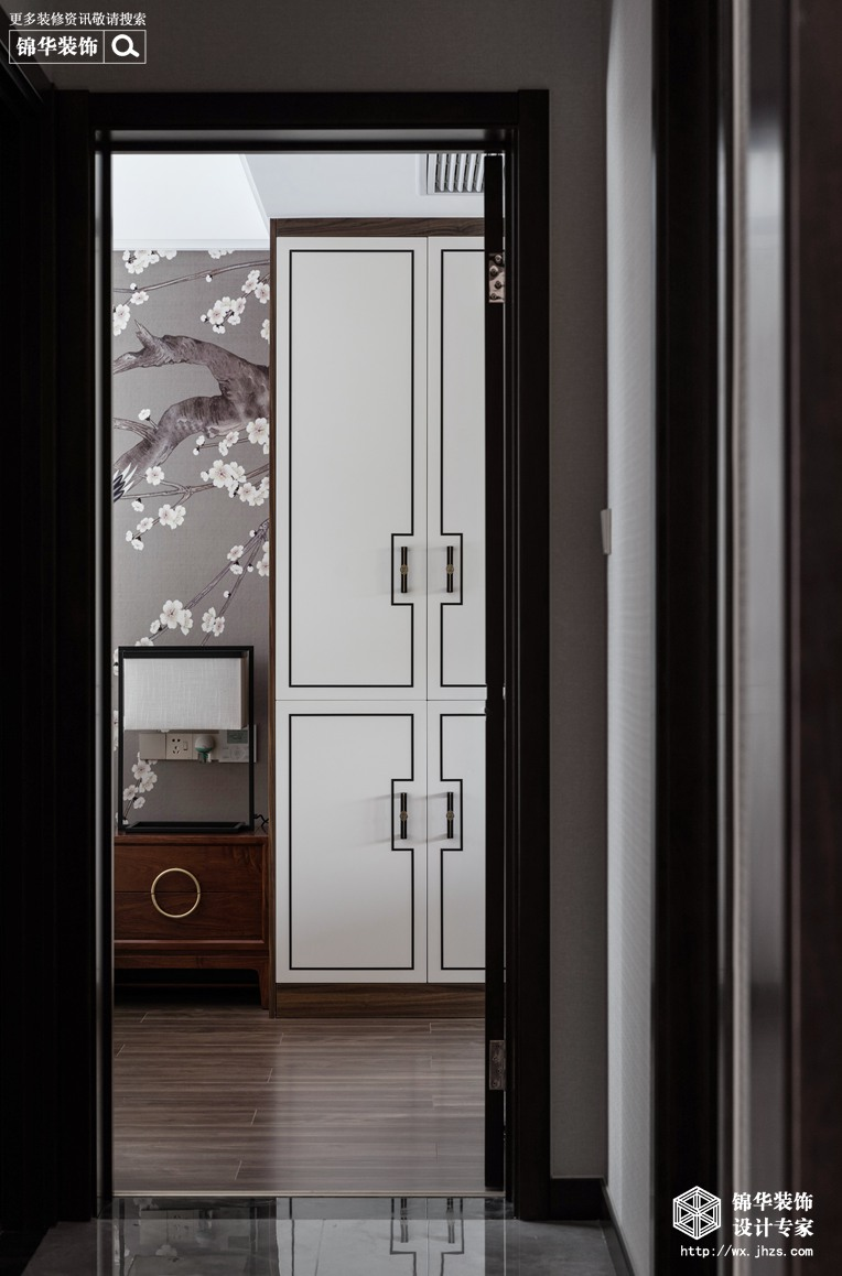 新中式风格-瑷颐湾-两室两厅-89平-过道-装修实景效果图
