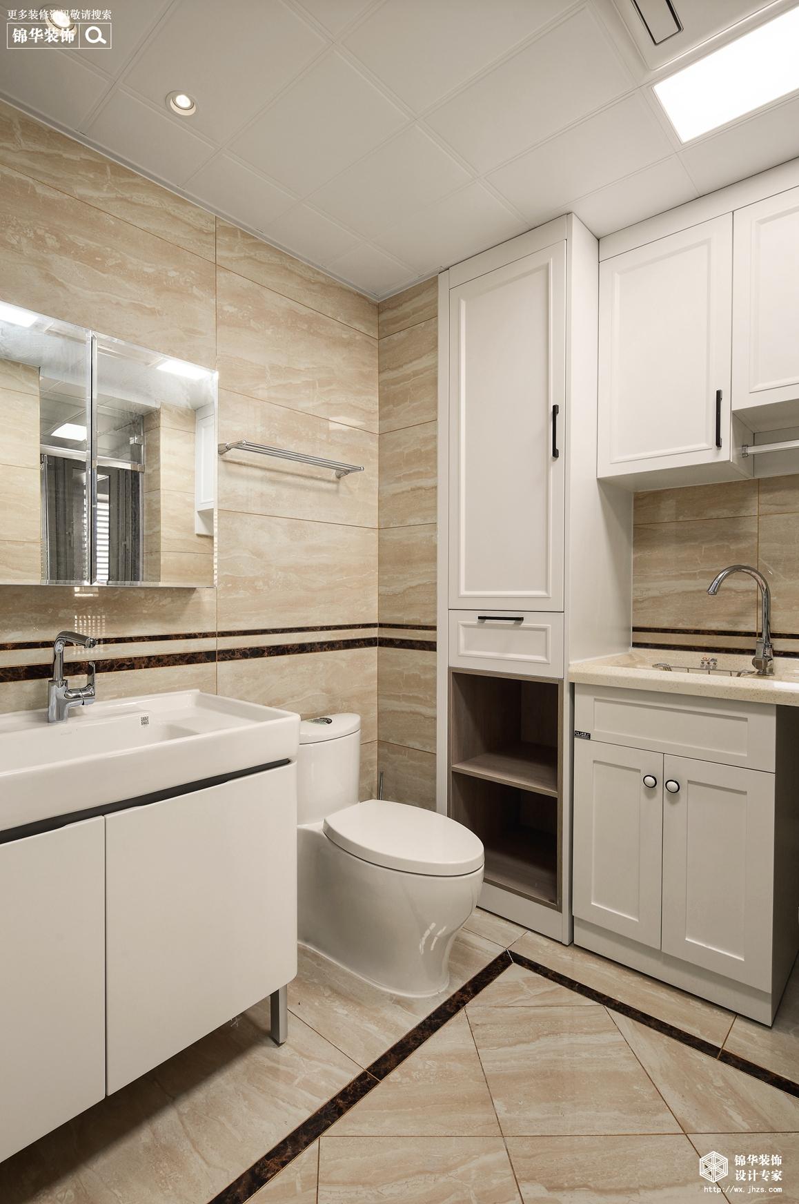 新中式-玉兰花园-三室两厅-140平-卫生间-装修效果实景图