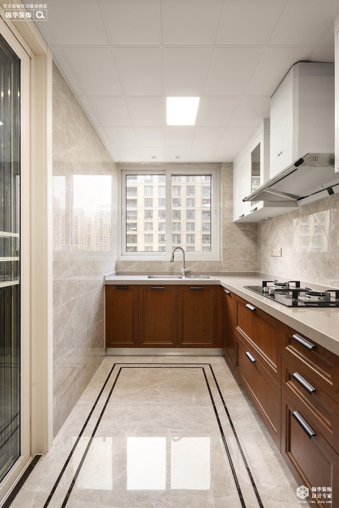 新中式-玉兰花园-三室两厅-140平-厨房-装修效果实景图