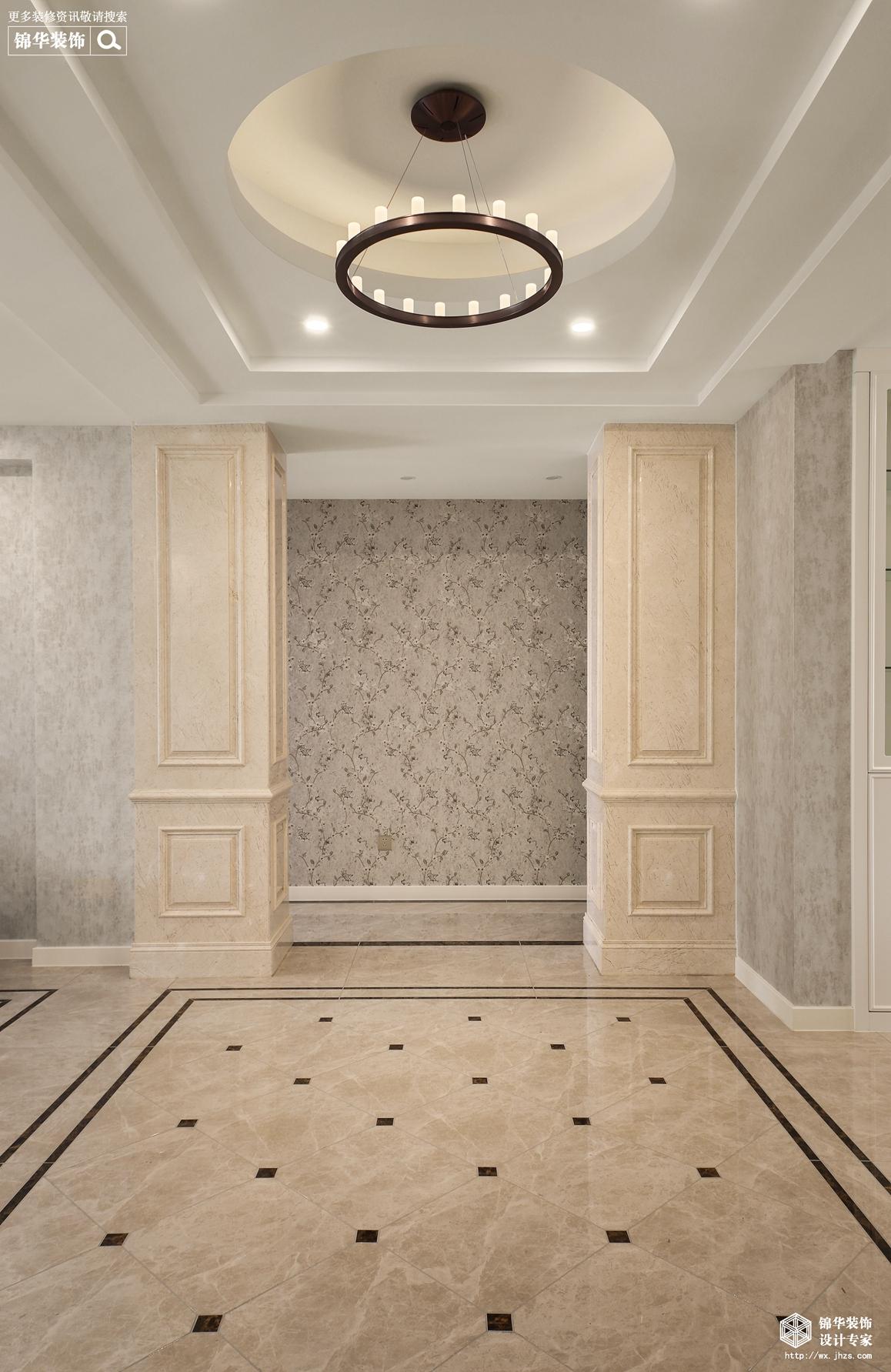 新中式-玉兰花园-三室两厅-140平过道-装修效果实景图