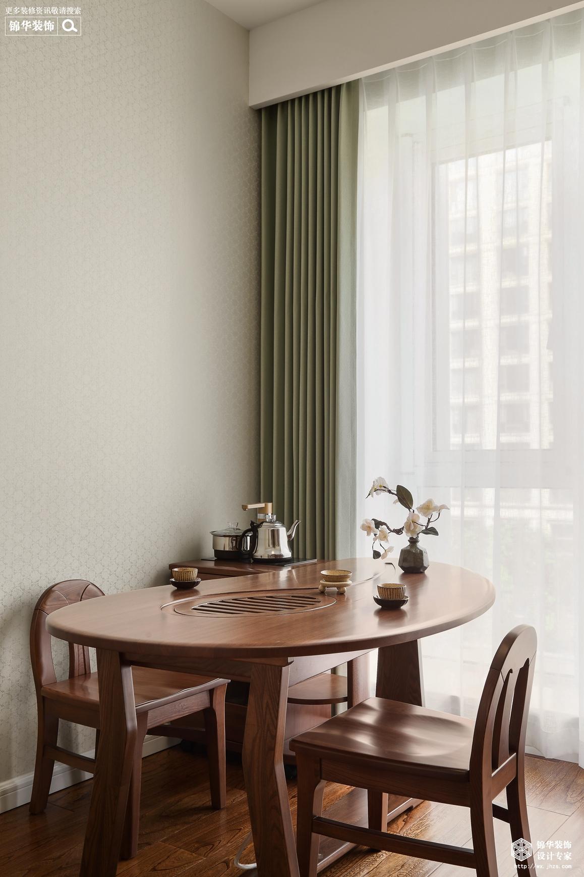 新中式-玉兰花园-三室两厅-140平-客厅-装修效果实景图