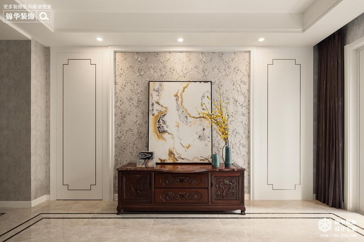 新中式-玉兰花园-三室两厅-140平-玄关-装修效果实景图
