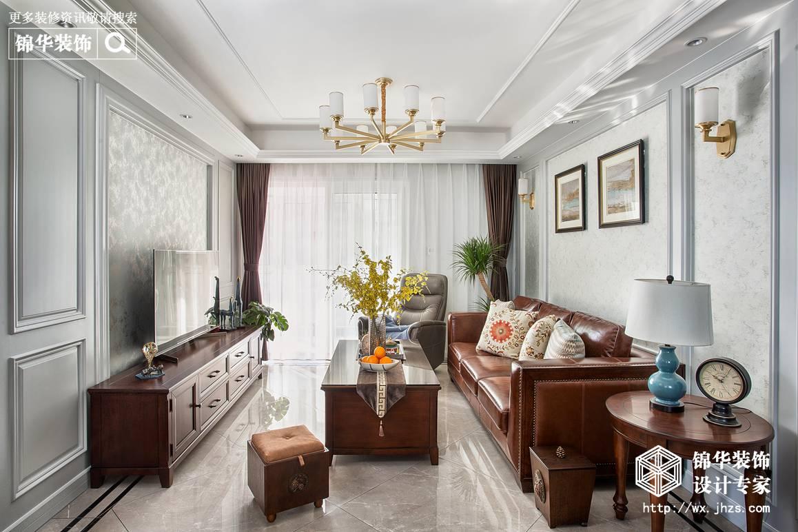 美式复古风格-玉兰公馆-三室两厅-101平-装修效果实景图