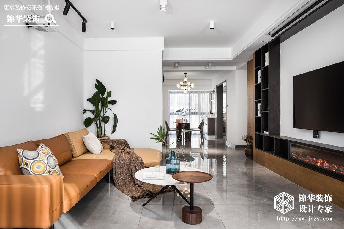 现代简约-橄榄郡-三室两厅-128平-装修实景效果图