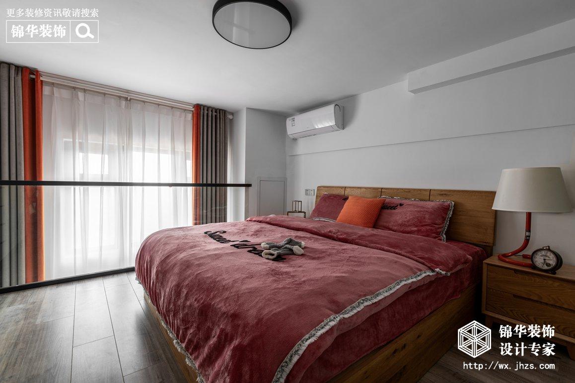 现代北欧-赛格公馆-两室两厅-48平-卧室-装修实景效果图