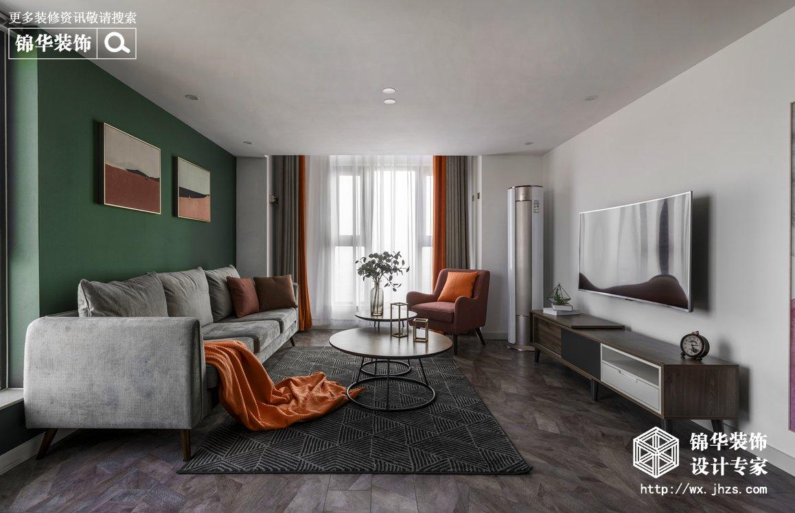 现代北欧-赛格公馆-两室两厅-48平-客厅-装修实景效果图