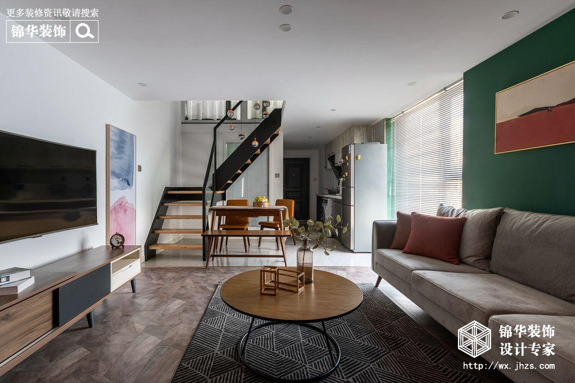 现代北欧-赛格公馆-两室两厅-48平-装修实景效果图装修-两室两厅-北欧