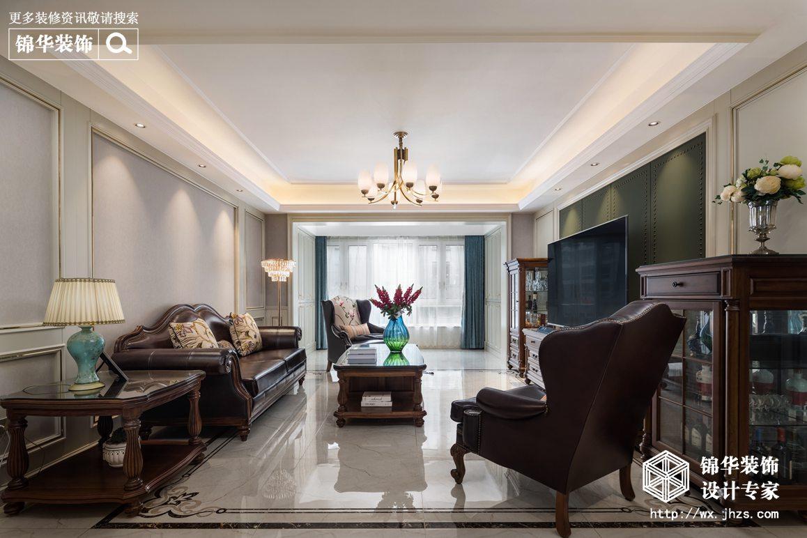 美式风格-东宝康园-三室两厅-155平-装修实景效果图