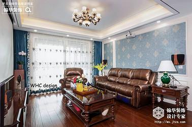 美式风格-保利中央公园-三室两厅-140平-装修实景效果图