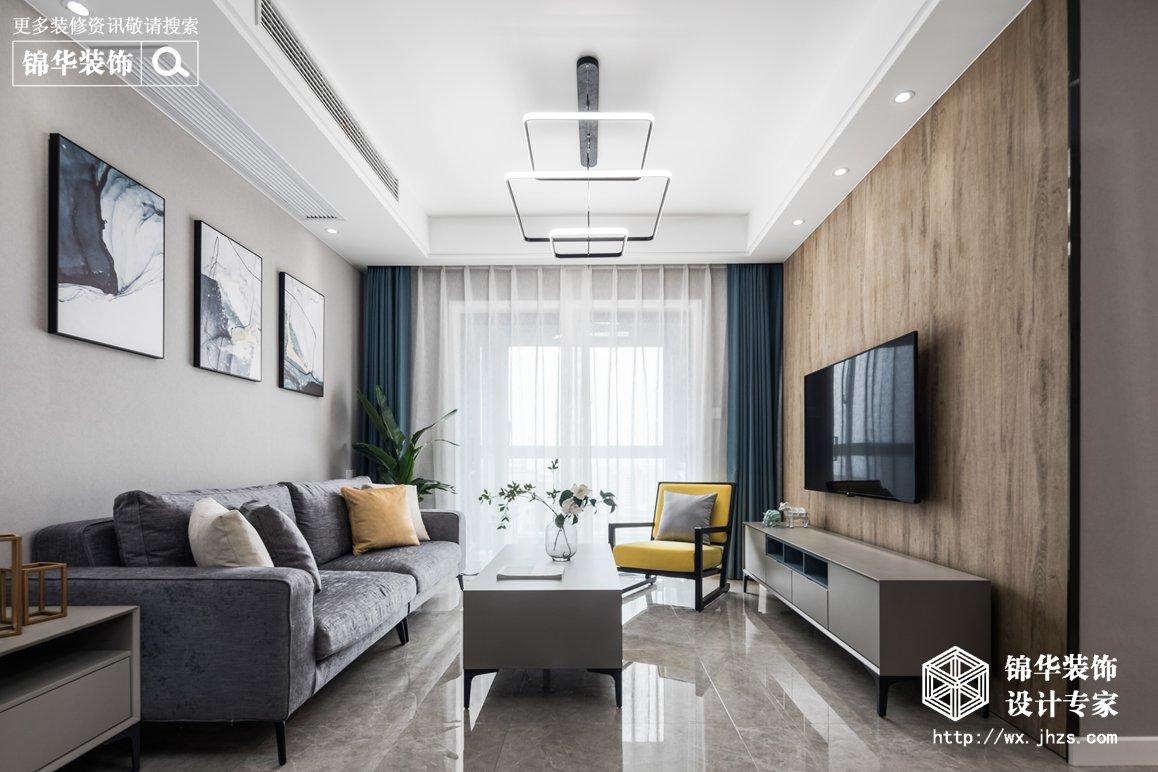 现代简约-金科世界城-两室两厅-90平-装修实景效果图
