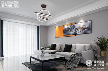 现代简约-溪岸景园-三室两厅-127平-装修实景效果图