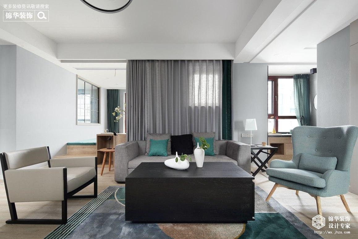 现代北欧风格-天元世家-三室两厅-140平-装修实景效果图