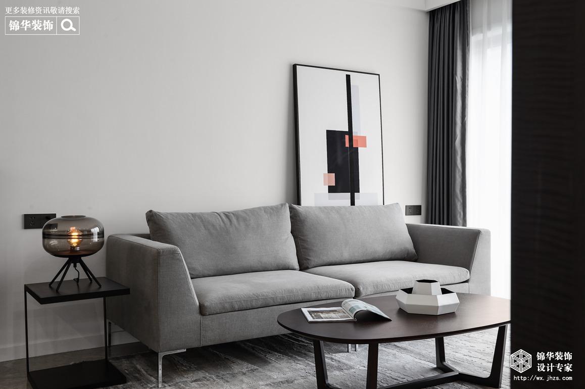 现代风格-碧桂园-两室两厅-85平-装修实景效果图
