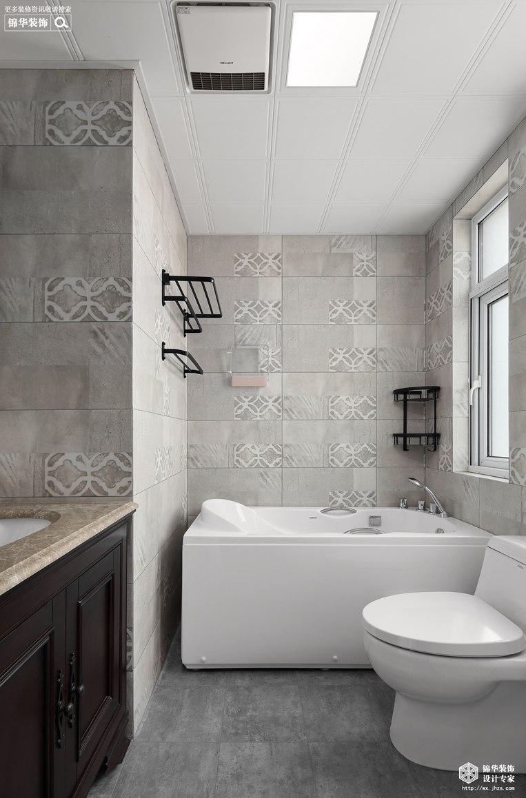美式风格-映月华府-四室两厅-98平-卫生间-装修实景效果图