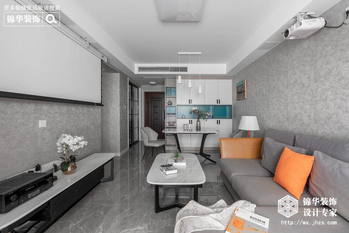 现代风格-绿地悦澜湾-两室两厅-89平-装修实景效果图