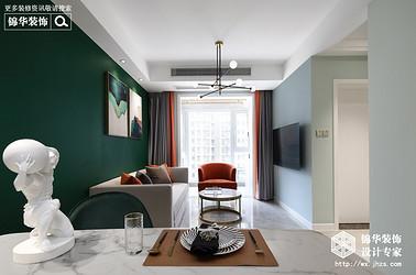 极简轻奢-华盛苑-一室一厅-60平-装修实景效果图