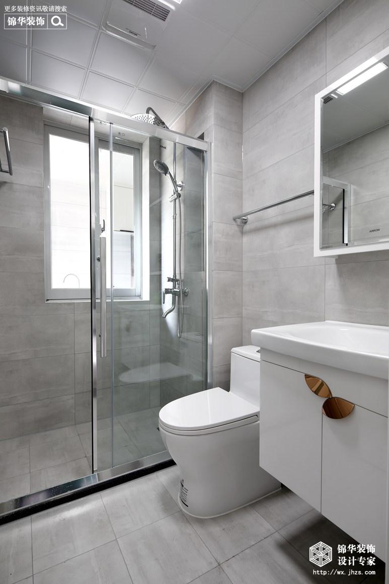 极简轻奢-华盛苑-一室一厅-60平-卫生间-装修实景效果图