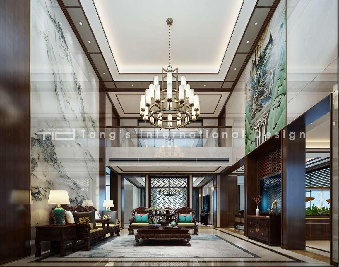 新中式-英伦艺墅-独栋别墅-500平-装修效果图