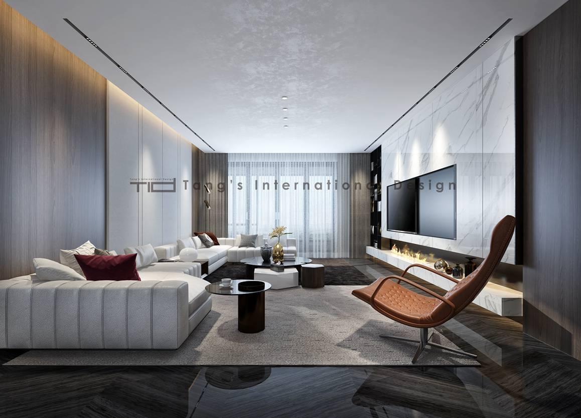 现代轻奢-世贸公馆-大平层-180平-装修效果图