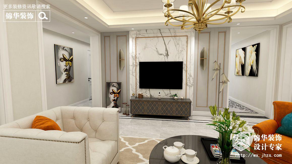 美式轻奢-东方天郡-四室两厅-142平-装修效果图