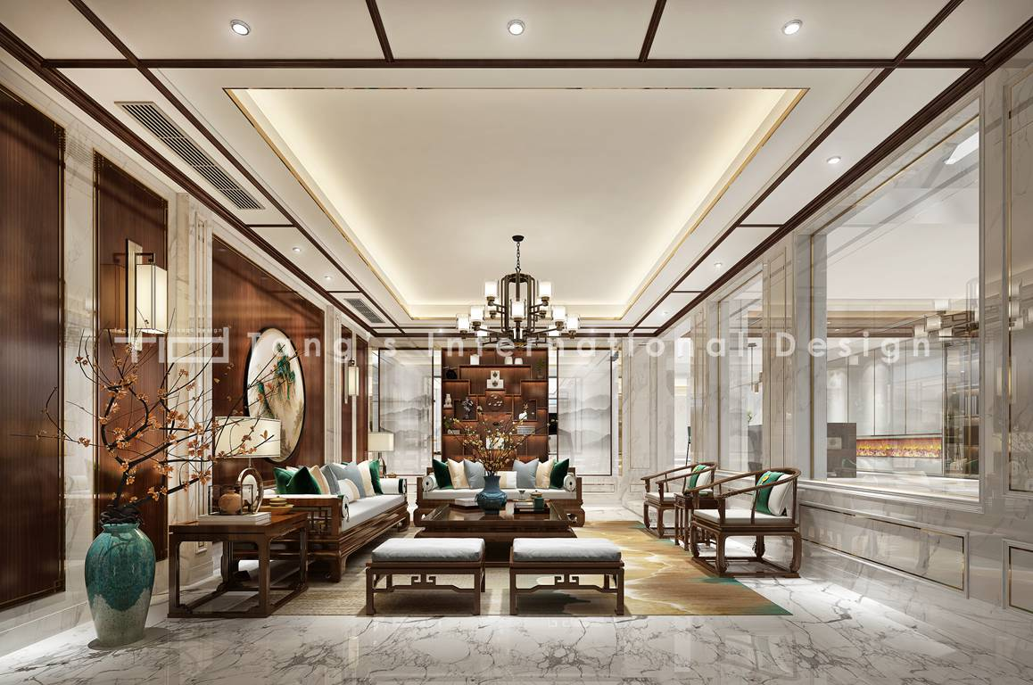 现代轻奢-印象剑桥-别墅-750平-装修效果图