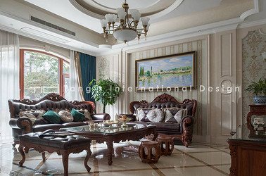 现代欧式-碧桂园-别墅-400平-装修实景效果图