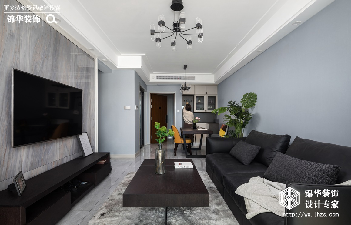 现代风格-碧桂园-两室两厅-90平-装修实景效果图
