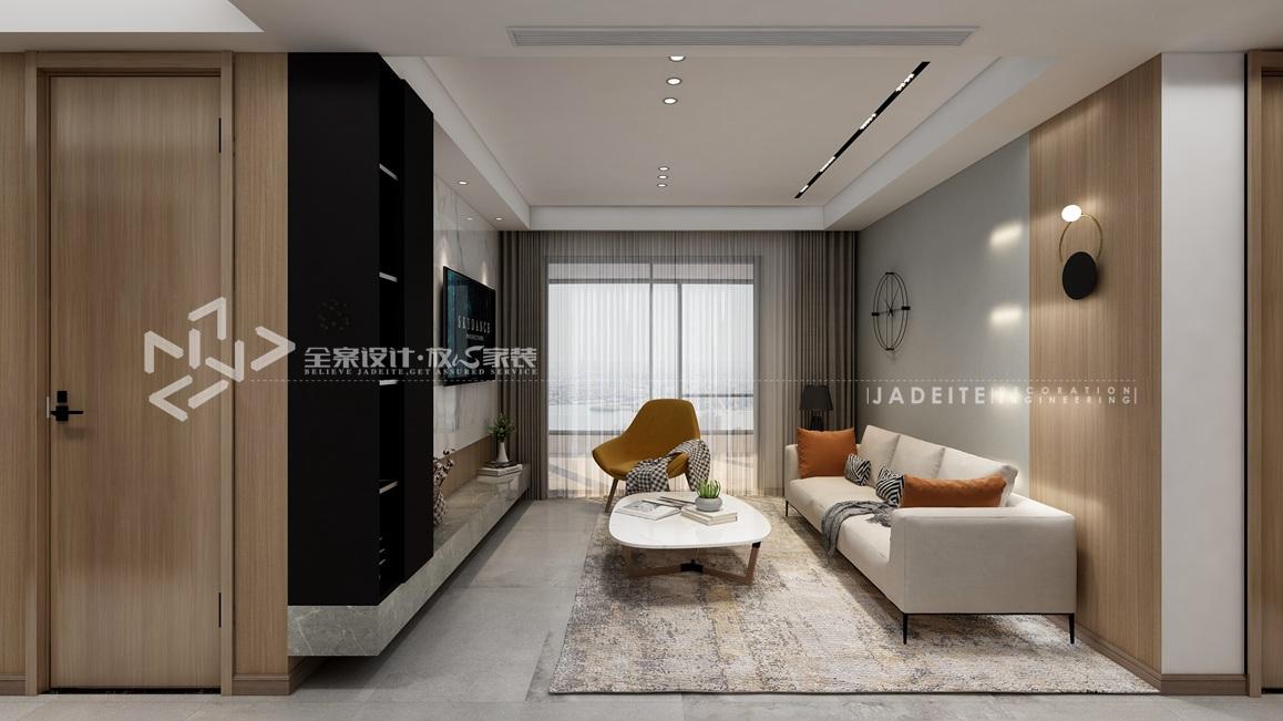 现代风格-华发首府-三室两厅-101平-装修效果图