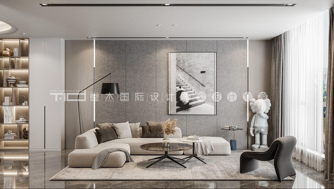 现代新中风格-优湖美地-复式-300平-装修效果图