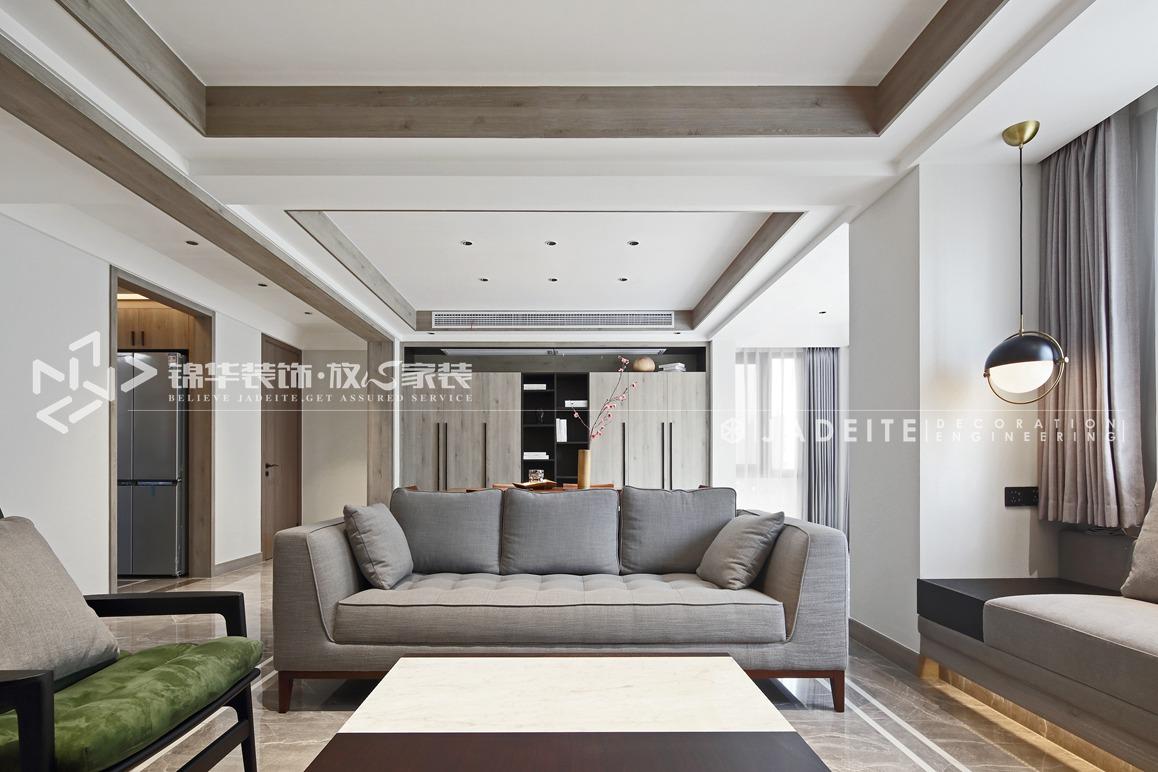 现代极简-保利中央公园-三室两厅-144平-装修效果实景图