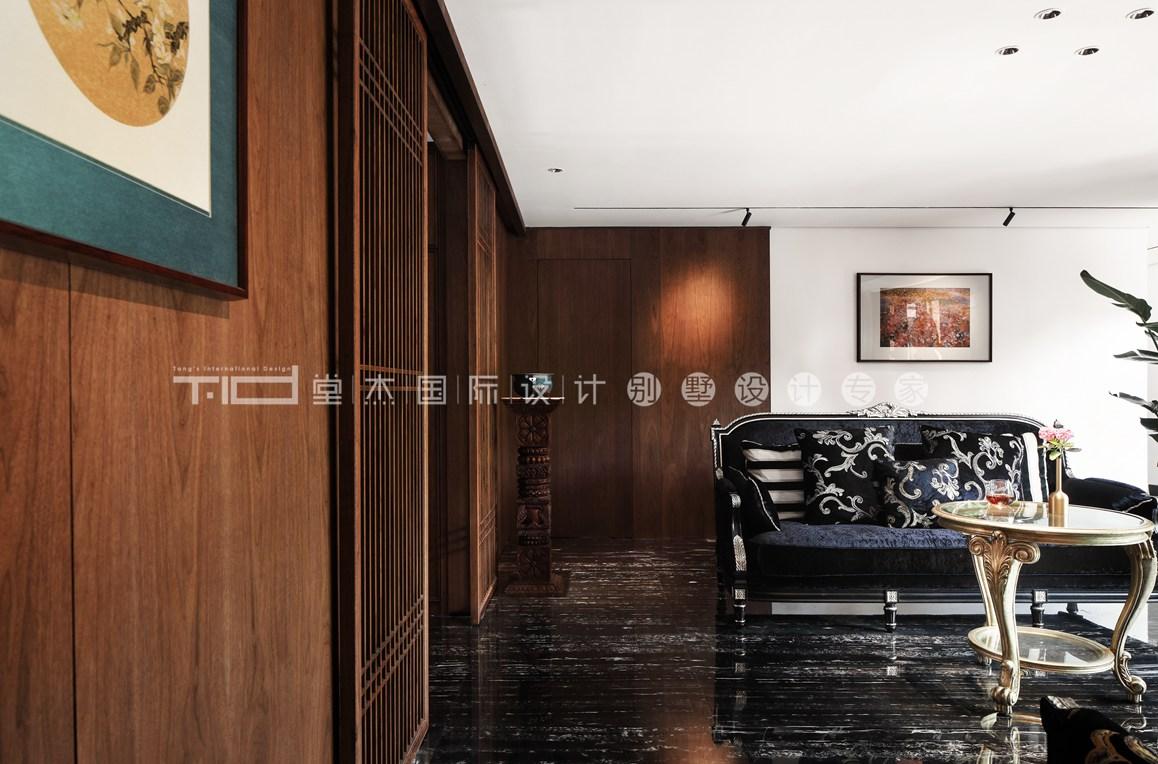 新中式混搭风格-鸿墅-下叠-260平-装修实景效果图
