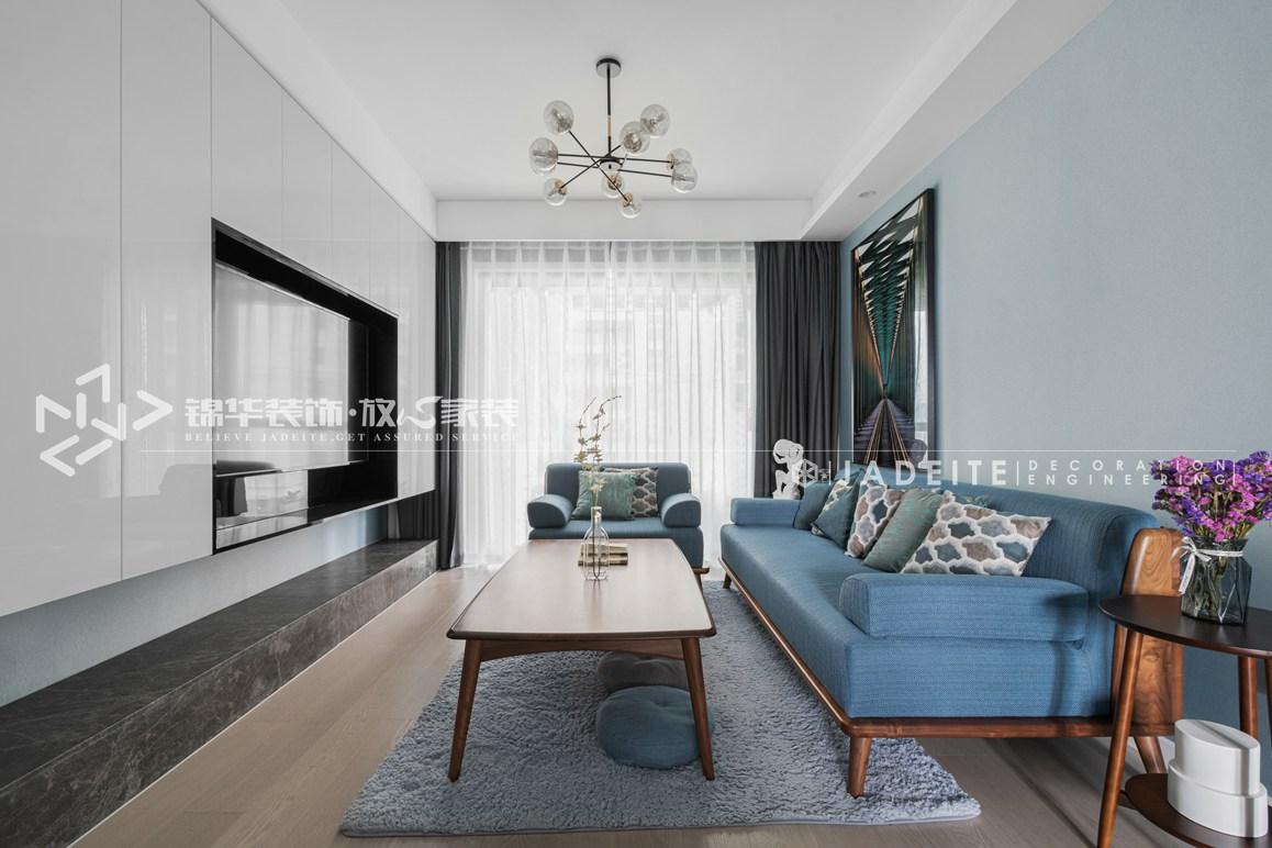 现代风格-运河壹号府-三室两厅-107平-装修实景效果图