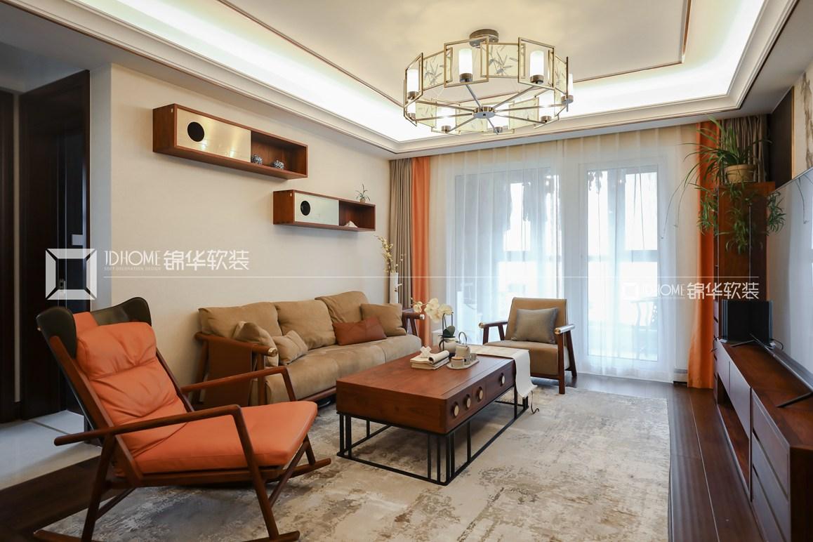 新中式风格-朗诗绿郡-四室两厅-147平-装修实景效果图