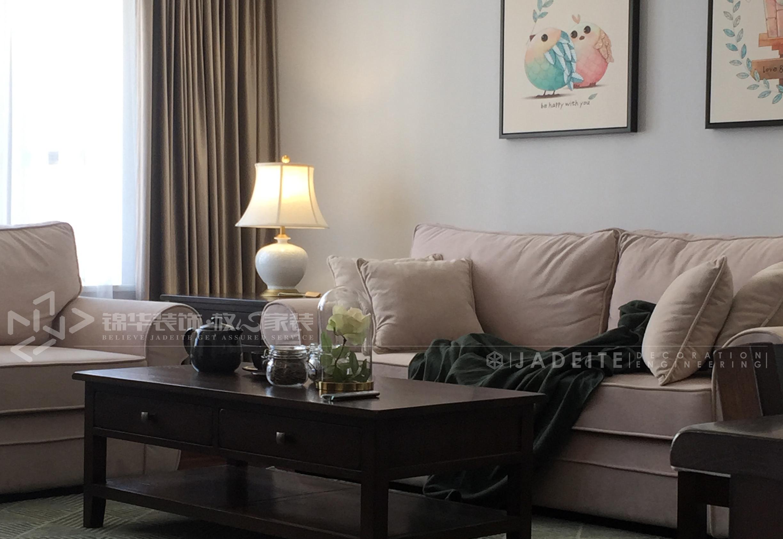 美式休闲-梁溪原筑-三室两厅-135平-装修实景效果图