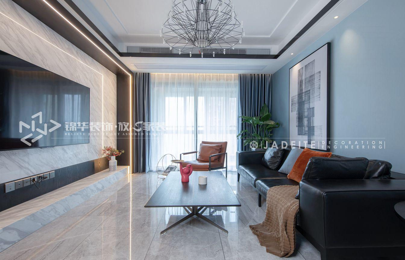 现代简约-御玺-三室两厅-143平-装修实景效果图