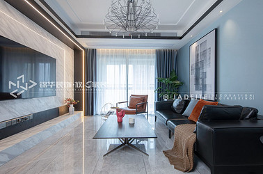 现代简约-九龙仓御玺-三室两厅-143平-装修实景效果图