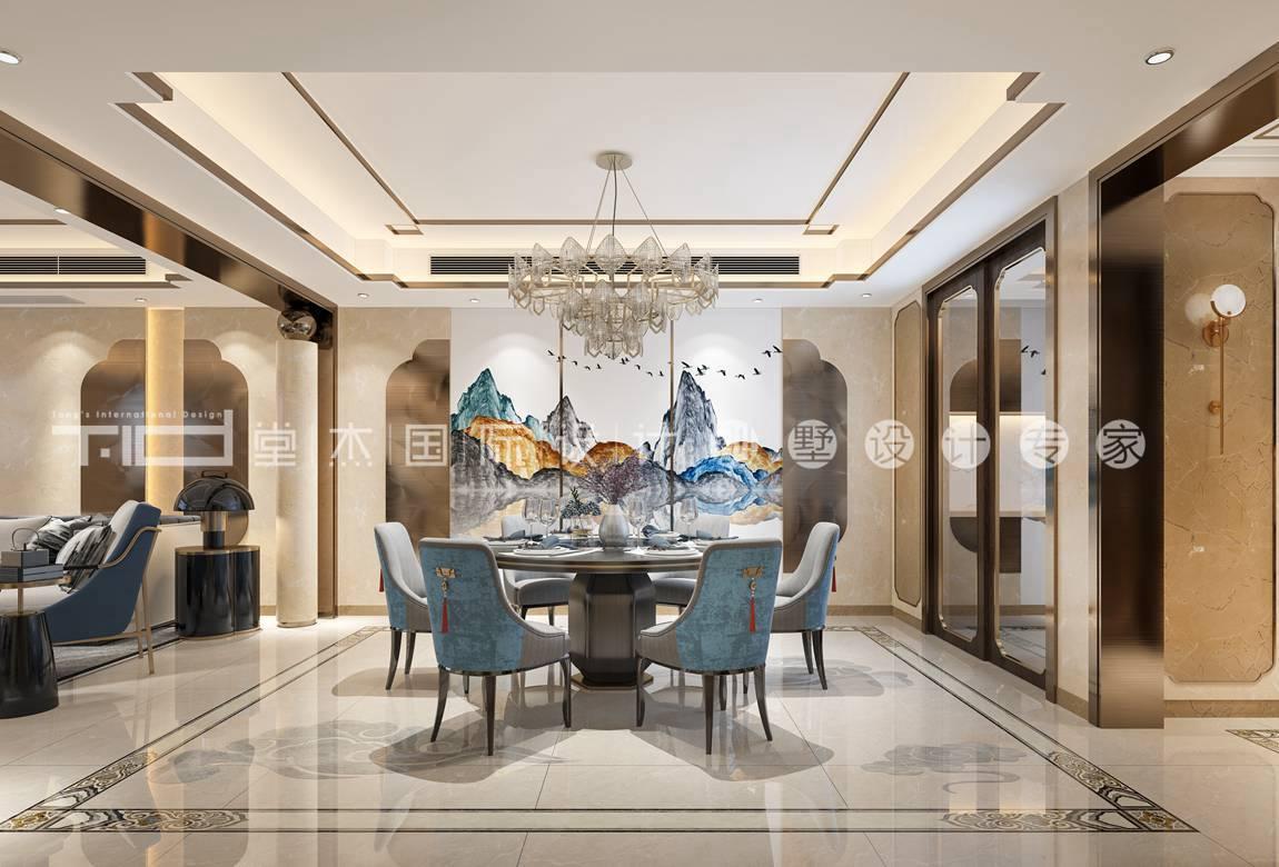新中式风格-香樟园-叠加别墅-280平-装修效果图